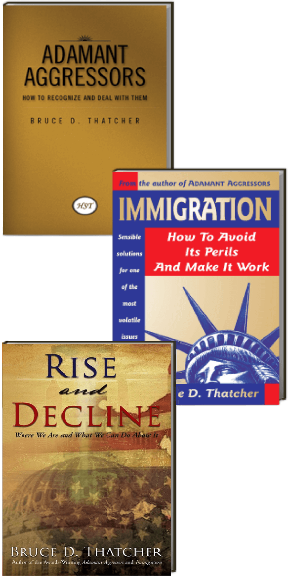 Adamant Aggressors and Immigration book covers